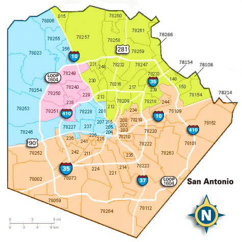 Map Of Texas San Antonio.San Antonio Texas Zip Code Map Woestenhoeve