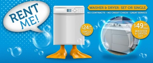Rent Me! Washer & Dryer Set or Single - No contracts - No Credit Check - Great Service