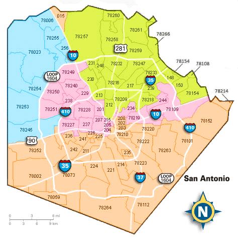san antonio area code map San Antonio Zip Code Map 2018 Map Of The World san antonio area code map